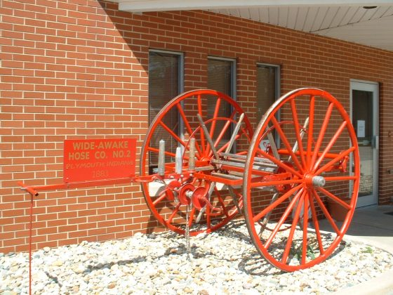 '10 hand-cart of Wide Awake Hose Co_, Plymouth, IN