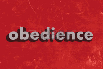 37422110-obedience-vector-word-on-red-concrete-wall